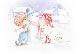 Snowman-Couple